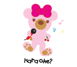 Melody the Pink Bear sticker #1637376