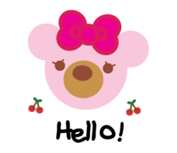 Melody the Pink Bear sticker #1637390