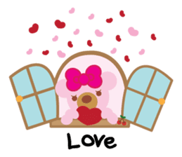 Melody the Pink Bear sticker #1637396