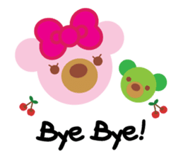 Melody the Pink Bear sticker #1637400