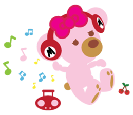 Melody the Pink Bear sticker #1637406