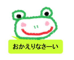 Cute animal Sticker drawn with crayons sticker #1637680