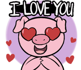 Cute piggy Aren sticker #1637787