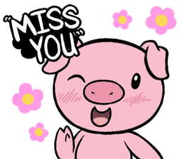 Cute piggy Aren sticker #1637792
