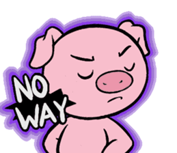 Cute piggy Aren sticker #1637794