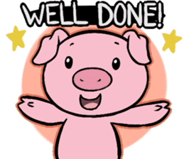 Cute piggy Aren sticker #1637800