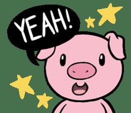 Cute piggy Aren sticker #1637806