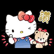 สติ๊กเกอร์ไลน์ Hello Kitty and Tiny Chum