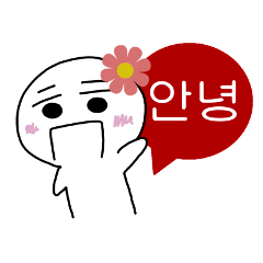 Hangul face sticker