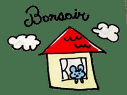 France mouse sticker #1647738