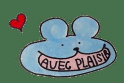 France mouse sticker #1647759