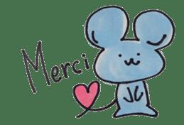 France mouse sticker #1647766
