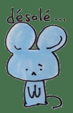 France mouse sticker #1647773