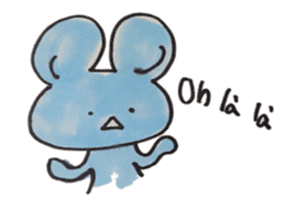 France mouse sticker #1647774