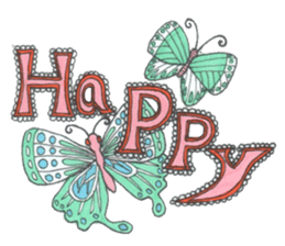 Flower and butterfly sticker #1652120