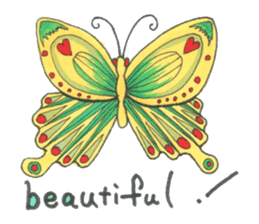 Flower and butterfly sticker #1652135