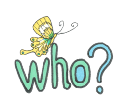 Flower and butterfly sticker #1652143