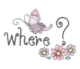 Flower and butterfly sticker #1652144