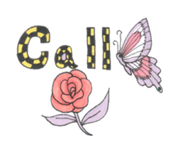 Flower and butterfly sticker #1652147