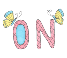 Flower and butterfly sticker #1652148