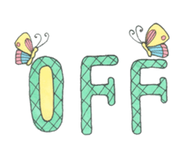 Flower and butterfly sticker #1652149