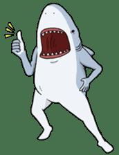 Shark men sticker #1663345