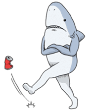 Shark men sticker #1663351