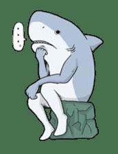 Shark men sticker #1663354