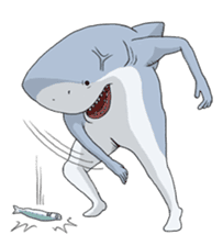 Shark men sticker #1663357