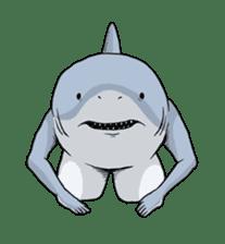 Shark men sticker #1663360