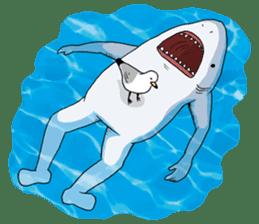 Shark men sticker #1663366
