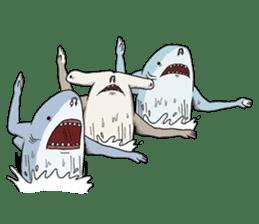Shark men sticker #1663378