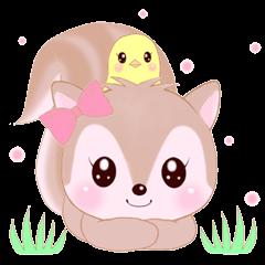 Baby squirrel & chick ~English ver.~