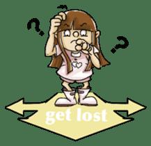 J girl  (Practical  English) sticker #1686028