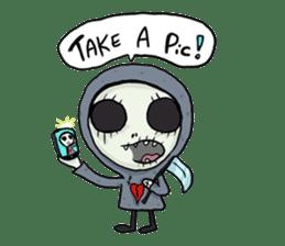 SkullGnome the Cute Grim Reaper sticker #1689553