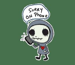 SkullGnome the Cute Grim Reaper sticker #1689557