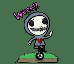 SkullGnome the Cute Grim Reaper sticker #1689560
