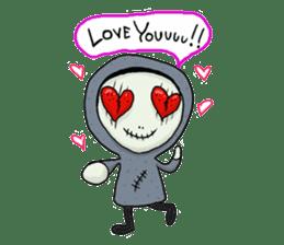 SkullGnome the Cute Grim Reaper sticker #1689561