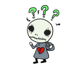 SkullGnome the Cute Grim Reaper sticker #1689562