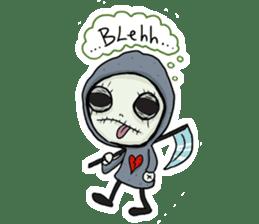SkullGnome the Cute Grim Reaper sticker #1689566