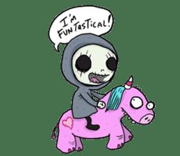 SkullGnome the Cute Grim Reaper sticker #1689567