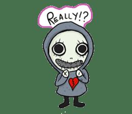 SkullGnome the Cute Grim Reaper sticker #1689568