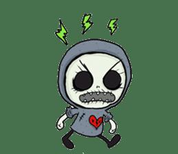 SkullGnome the Cute Grim Reaper sticker #1689569