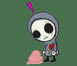 SkullGnome the Cute Grim Reaper sticker #1689570