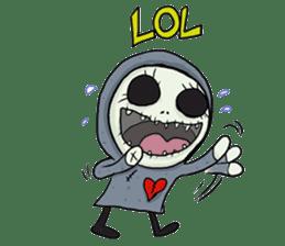 SkullGnome the Cute Grim Reaper sticker #1689571