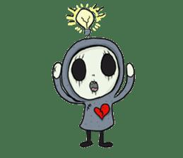 SkullGnome the Cute Grim Reaper sticker #1689573