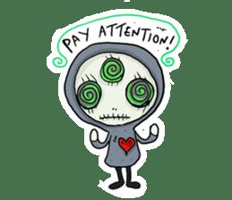 SkullGnome the Cute Grim Reaper sticker #1689575
