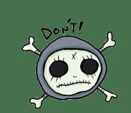 SkullGnome the Cute Grim Reaper sticker #1689577