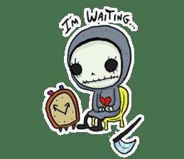 SkullGnome the Cute Grim Reaper sticker #1689579