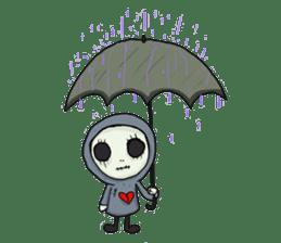 SkullGnome the Cute Grim Reaper sticker #1689585